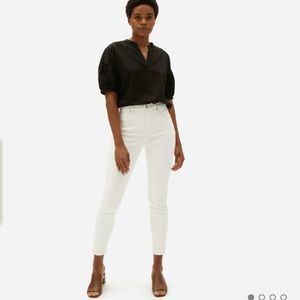 EVERLANE high rise white skinny ankle jeans Sz 31